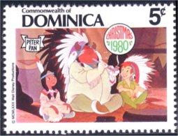 308 Dominica Disney Peter Pan Calumet Peace Pipe MNH ** Neuf SC (DMN-53c) - Indiens D'Amérique