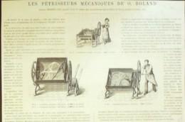PETRISSEURS MECANIQUES BOLAND-1870 - Prints & Engravings
