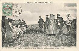 Maroc Campagne 1907 1908 Ber Rechid Chefs Tribus Venant Faire Leur Soumission Général D' Amade Timbre Cachet Secteur 172 - Maroc