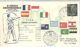 POSTMARKET 1955 BARCELONA   IIJUEGOS MEDITERRANEOS - Shooting (Weapons)
