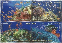 Pakistan 2012, Arabian Sea Coral Reefs, MNH Stamps Set - Pakistán