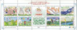 Pakistan 2012, Child Art Competition At National Stamp Exhibition, MNH Sheetlet - Pakistan