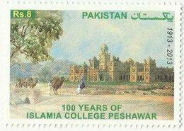 Pakistan 2013, 100 Years Of Islamia College Peshawar, MNH Single Stamp - Pakistan