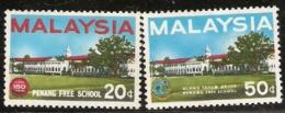 Malaysia  1966 SG  35-6  Penang Free School  Mounted Mint - Malaysia (1964-...)