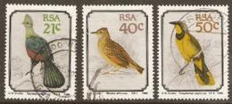 South Africa  1990  SG 710,2,3  Birds   Fine Used - Sud Africa (1961-...)