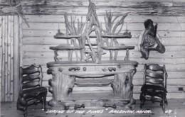 "Michigan Baldwin ""Shrine Of The Pines"" Interior View Real Photo - Etats-Unis"