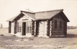 Michigan Oscoda Log Cabin At Lumberman's Monument Real Photo - Etats-Unis