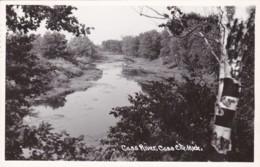 Michigan Cass City View Along Cass River 1950 Real Photo - Etats-Unis