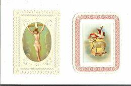 IMAGE RELIGIEUSE 2 CANIVETS CATECHISME 27 JANVIER 1881 ET SOUVENIR IMPECCABLE VOIR SCANS - Devotion Images