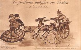 La Furibonde Galopade Sur Verdun Ou Le....Lièvre Et La Tortue . Ed Genève Suisse - Guerre 1914-18 - Ane - Humour