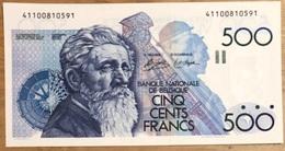 500 Francs Meunier Simonis - De Strycker UNC!! Zonder Handtekening Achterzijde!! Zeldzaam In Deze Topkwaliteit!! 0591 - 500 Francs