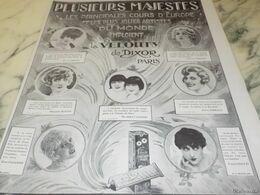 ANCIENNE PUBLICITE MAJESTE ET ARTISTE  L IRADIUM DE DIXOR 1927 - Perfume & Beauty
