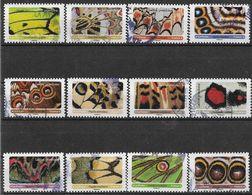 2020 FRANCE Adhesif 1801-12 Oblitérés, Cachet Rond,  Papillons, Série Complète - Adhésifs (autocollants)