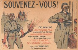 Souvenez-vous Ce Boche... - Protectionnisme - Boycotte Des Produits Allemands - Reims - Vendeur - Oorlog 1914-18