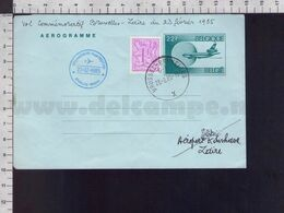 C9174 Belgium Belgique Postal Stationery 1985 VOL COMMEMORATIF BRUSSEL ZAIRE AEROGRAMME - Aerogrammes
