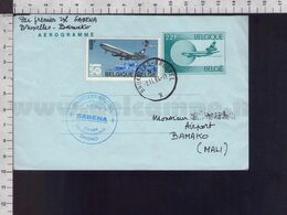 C9175 Belgium Belgique Postal Stationery 1984 CACHET PRIEMIERE LIASON AERIENNE SABENA AIRLINES BAMAKO AEROGRAMME - Aerogrammes