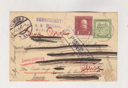 AUSTRIA SERBIA WW I Nice Postal Stationery Censored To Switzerland - 1850-1918 Impero