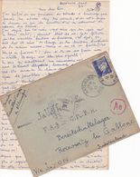 FRANCE LETTRE DE 1941 TIMBRES 4 FR PETAIN TYPE PROST / N° 521 A / TAMPON A DATE ARTEMARE AIN + TAMPON ROUGE Ae - Guerres