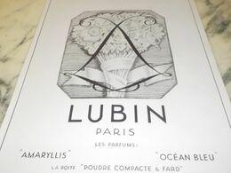 ANCIENNE PUBLICITE PARFUM AMARYLLIS DE LUBIN 1927 - Perfume & Beauty