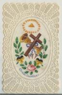 IMAGE RELIGIEUSE CANIVET AVEC LE CENTRE EN CELLULOIDE DIVIN SACRIFICE - Devotion Images
