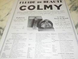 ANCIENNE PUBLICITE FLUIDE DE BEAUTE DE COLMY 1927 - Perfume & Beauty