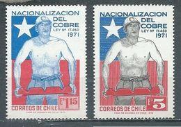 Chili YT N°380/381 Nationalisation Du Cuivre Neuf ** - Cile