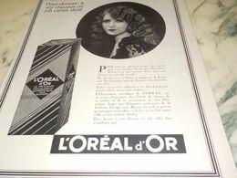 ANCIENNE PUBLICITE REFLET DORE L OREAL 1927 - Perfume & Beauty