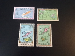 K32816 -set MNH Anguilla - 1972 - SC. 136-139 - Maps - Anguilla (1968-...)