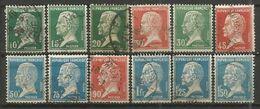 France - Type Pasteur - Série Complète N°170 à 181 - Obl. - 1922-26 Pasteur