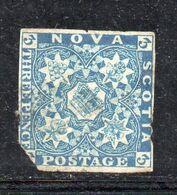 XP4125 - NOVA SCOTIA 1851 , Yvert N. 2 Usato. MOLTO DIFETTOSO - Usados