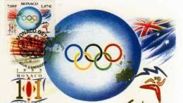 Carte 1°jour, 25 04 2000, Obliteration Monaco O.E.T.P Session CIO, Timbre,SYDNEY,anneaux Olympiques,illustrateur Mordant - Ansichtskarten