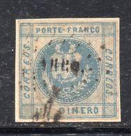 XP4235 - PERU' , 1 Dinero Blu Grigio Usato Su Frammentino. DIFETTOSO - Perú