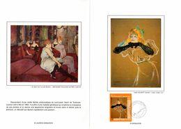 """"""" YVETTE GUILBERT De HENRI DE TOULOUSE-LAUTREC """" Sur Encart LUXE CERES 1° Jour En Soie De 2001 N° YT 3421 Parf état FDC - 2000-2009"""
