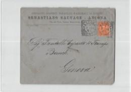 14307 ANCONA SAUVAGE CEMENTI X GENOVA - 1878-00 Humbert I.