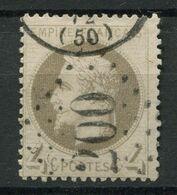 !!! 4 C LAURE OBLITERE GC 200 AUBERIVE (HAUTE MARNE) RARE SUR CETTE VALEUR - Marcophily (detached Stamps)