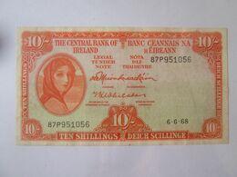 Rare! Ireland 10 Shillings 1968 Banknote - Ierland
