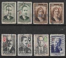 1959 Cuba Personajes 8v. Sobrevaluados - Gebraucht