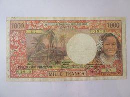 Papeete(French Polynesia/Tahiti) 1000 Francs 1985 Banknote - Papeete (Polynésie Française 1914-1985)
