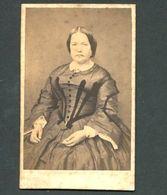 Fotografia Antiga Senhora. CDV Photo 1870s PORTUGAL - Ancianas (antes De 1900)