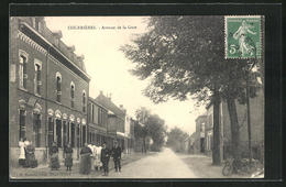 CPA Courrières, Avenue De La Gare - Unclassified