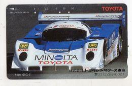 JAPON TELECARTE SPORT AUTO TOYOTA MINOLTA - Sport