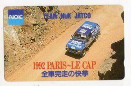 JAPON TELECARTE SPORT AUTO PARIS LE CAP 1992 - Sport