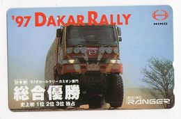 JAPON TELECARTE SPORT RALLY PARIS DAKAR 1997 CAMION HINO - Sport
