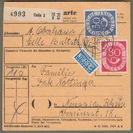 "Bund: Paketkarte Mi.-Nr. 132 U. 137: "" Dauerserie  Posthorn "" !  X - Used Stamps"