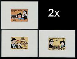 BULK: 2 X IVORY COAST 1981 Royalty Diana Wedding Big Stage-coach DeLuxe:3 - Costa D'Avorio (1960-...)
