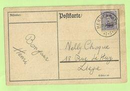BZ 89 (opdruk Eupen) Op Brief Stempel HERGENRATH (Rare Bureau !!!!) (235) - [OC55/105] Eupen/Malmedy