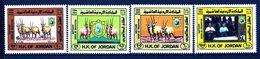 Jordan 1984 MiNr. 1277 - 80 Jordanien Fauna Arabian Oryx, King Hussein II, Queen Noor, Prince Philip WWF 4v MNH** 7,00 € - Nuovi