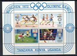 Kenya Uganda & Tanzania 1972 Summer Olympics Munich MS MUH - Kenya, Uganda & Tanganyika