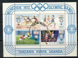 Kenya Uganda & Tanzania 1972 Summer Olympics Munich MS FU - Kenya, Uganda & Tanganyika