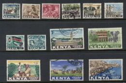 Kenya 1963 Pictorials To 10/- FU - Kenia (1963-...)